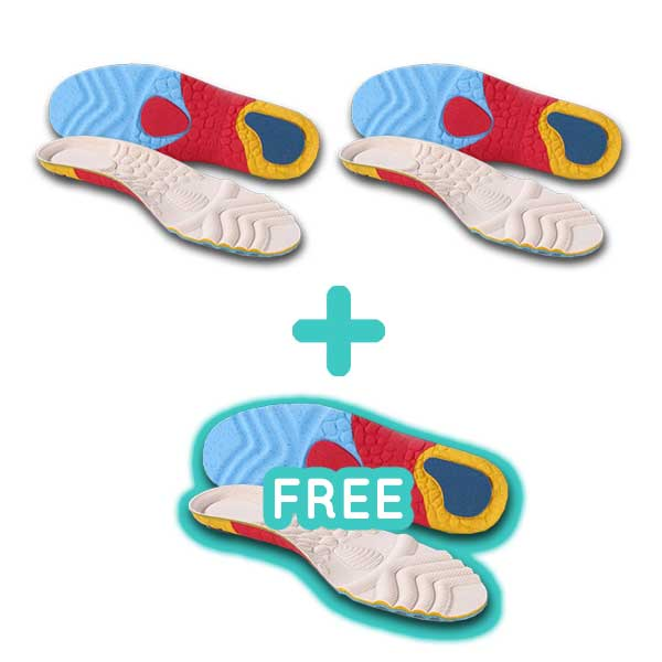Running+ Orthopedic Insoles - 3 Pairs (Buy 2 Get 1 Free Special)
