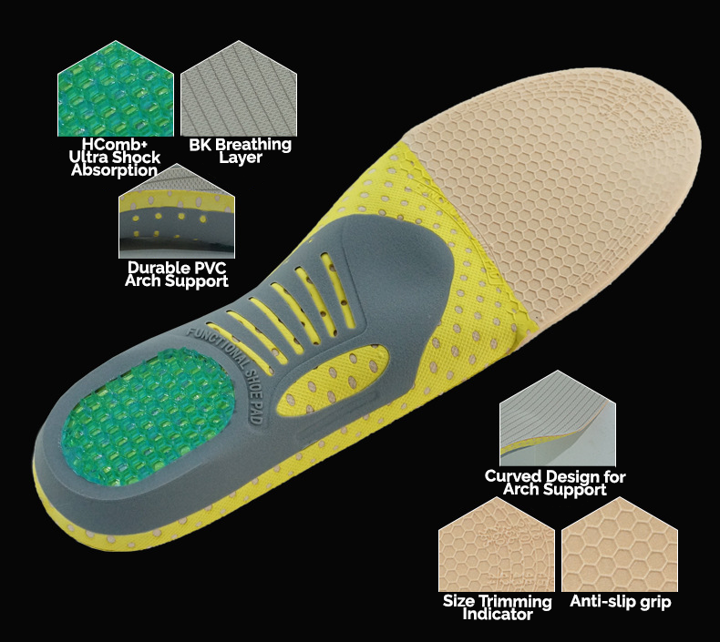 BR HComb+ Orthopedic Insoles - 3 Pairs (Buy 2 Get 1 Free Special)