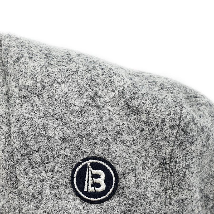 Grey Wool Newsboy Cap