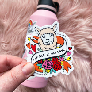 Whole Llama Love | Sticker