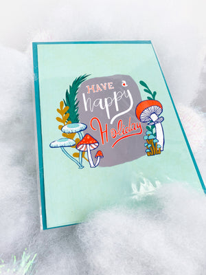 Happy Holiday Winter Woodland Card