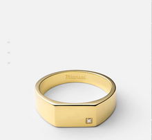 Load image into Gallery viewer, GEO SIGNET RING W/DIAMOND