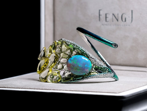 Meli Melo - Feng-j-calla-lily-bangle-in-box - joia floral