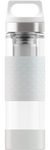 SIGG 0,4 L Hot & Cold Glass White lasinen termospullo