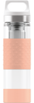 SIGG 0,4 L Hot & Cold Glass Shy Pink lasinen termospullo