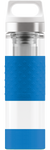 SIGG 0,4 L Hot & Cold Glass Electric Blue lasinen termospullo