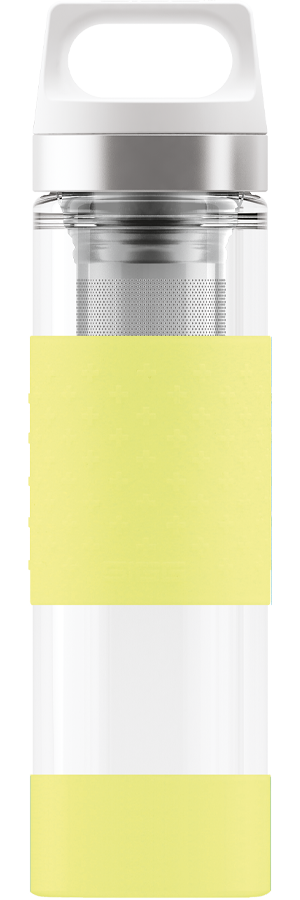 SIGG 0,4 L Hot & Cold Glass Ultra Lemon lasinen termospullo