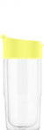 SIGG 0,37 L Nova Mug Ultra Lemon lasinen termosmuki