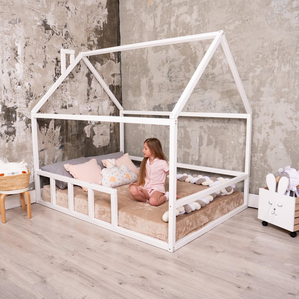 Toddler House Bed Wooden Floor Bed