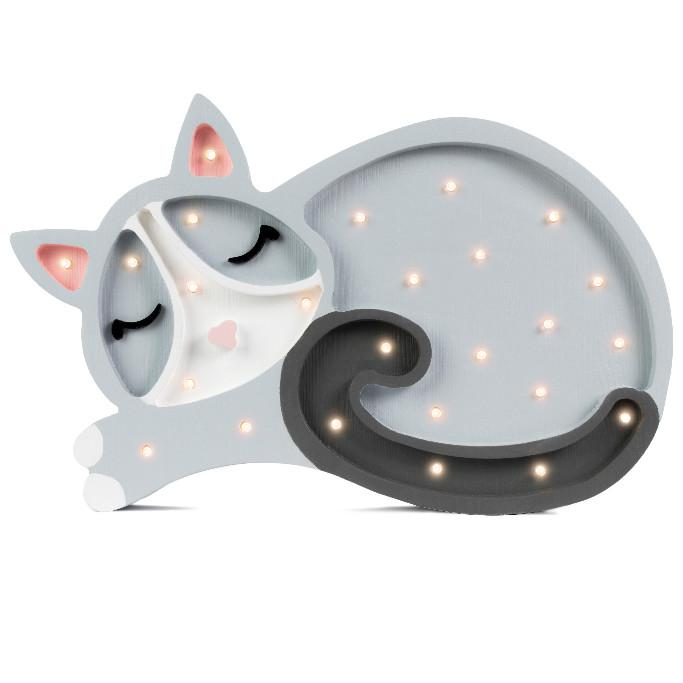 Little Lights Handmade Wooden Kitten Lamp - Funk's Wooden Wonders
