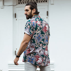 Baroque Printed Short Sleeve Shirt