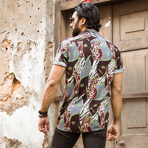 Abstract Printed Short Sleeve Shirt