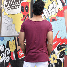 Load image into Gallery viewer, Maroon Scoop Neck T-shirt