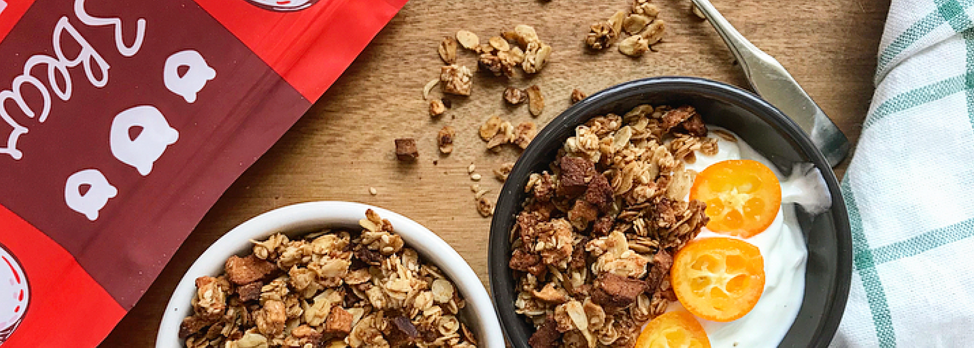 Cinnamon apple granola with cardamom