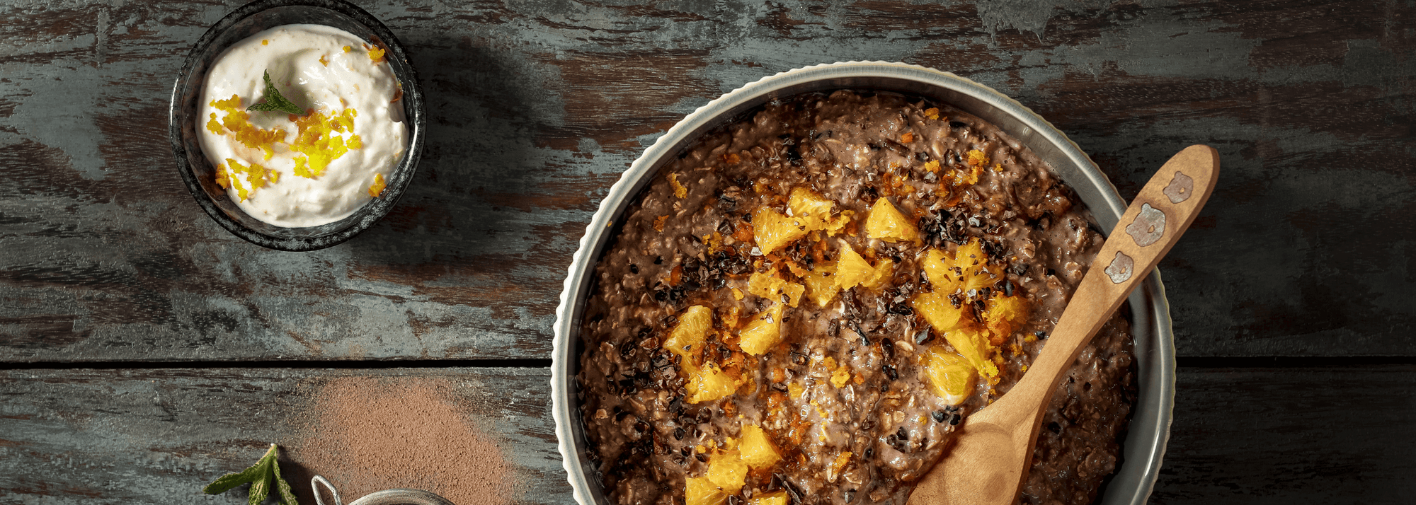 #hellochocolate: Chocolate porridge with orange kick