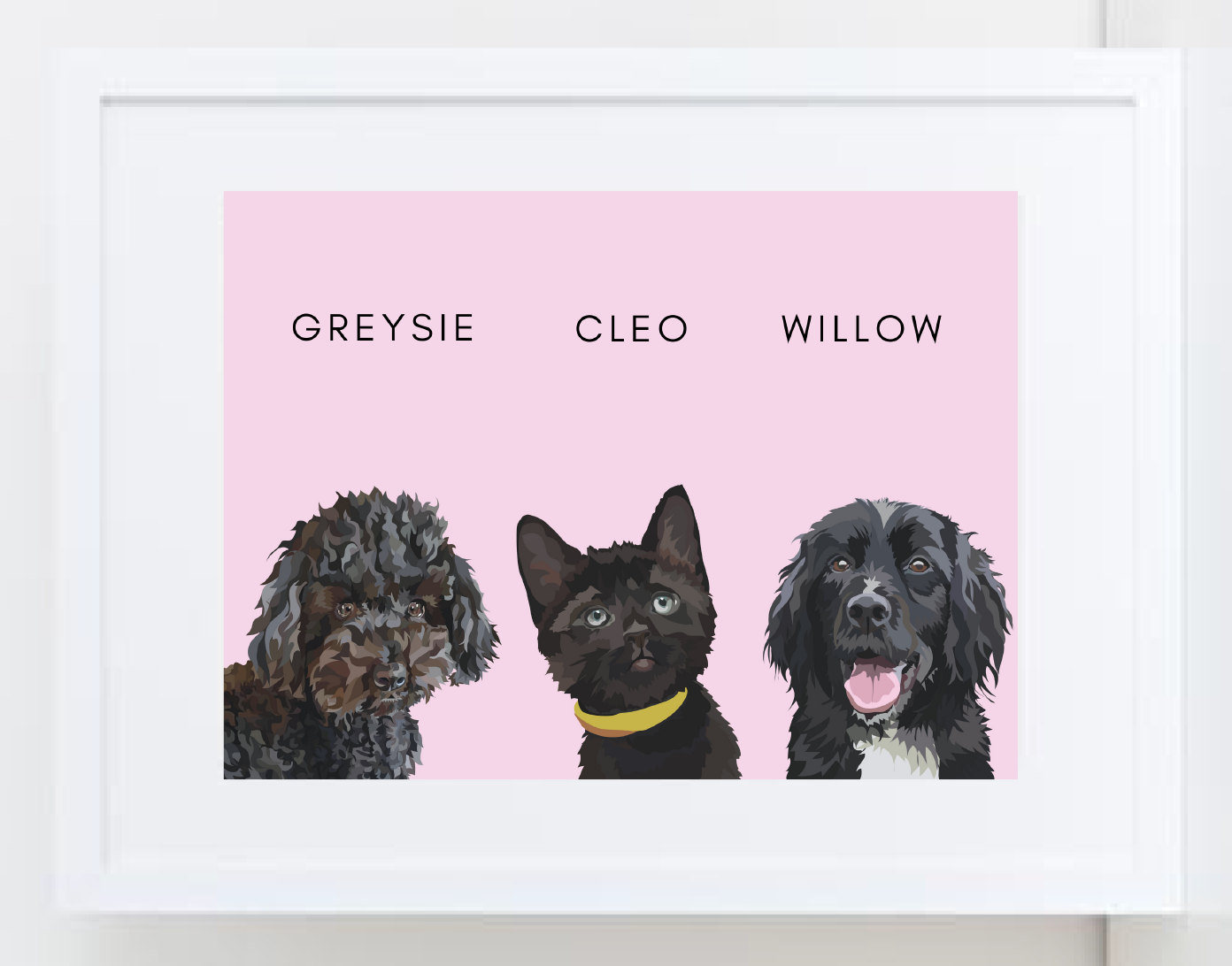 Bespoke Frame: Three Pets