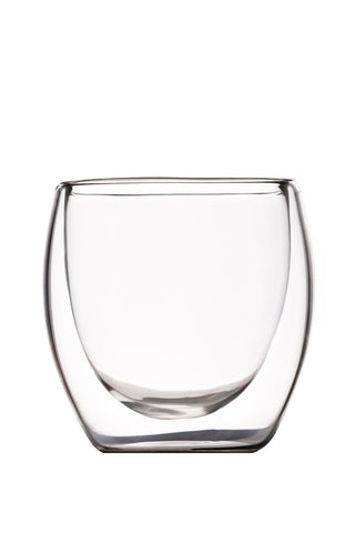 80 milliliter double walled glass cup