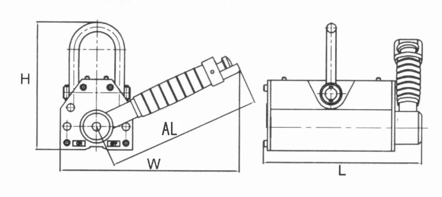 magnetic lifters dimensions specifications