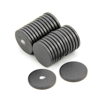 Ferrite Disc Magnet - 22mm x 3mm (Marked)