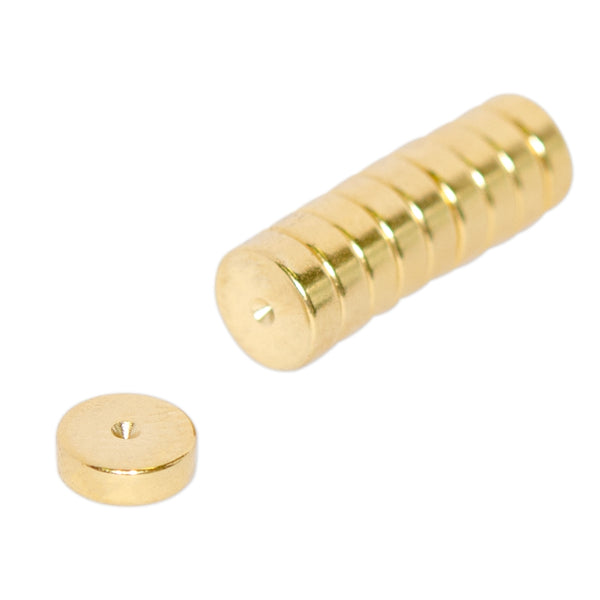 Neodymium Disc - 6mm x 2mm | Gold Coating | North Marked