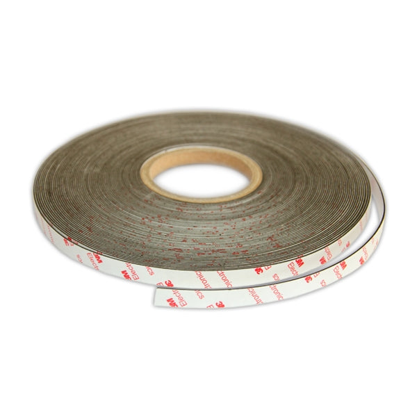 Self-Adhesive White Non-Magnetic Steel Tape | 12.5mm x 1mm x 30m ROLL