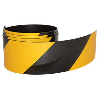 Reflective Magnetic Tape | Hi-Vis Black and Yellow | 50mm x 0.8mm | PER METRE