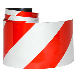 Reflective Magnetic Tape | Hi-Vis Red and White | 100mm x 0.8mm | PER METRE