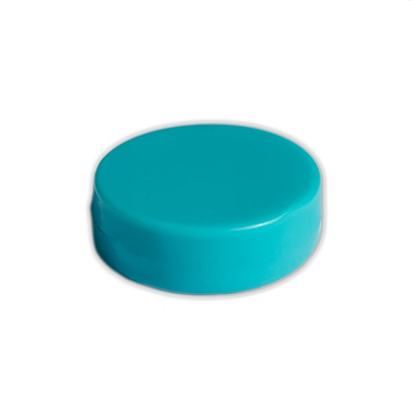 Ferrite Whiteboard Button Magnet 30mm x 6mm - Turquoise