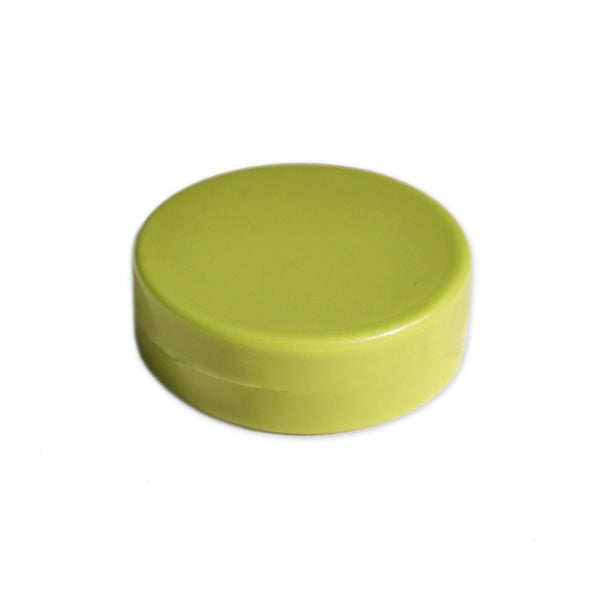 Ferrite Whiteboard Button Magnet 30mm x 6mm - Lime Green