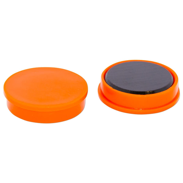 Ferrite Whiteboard Button Magnet 30mm x 7mm - Orange