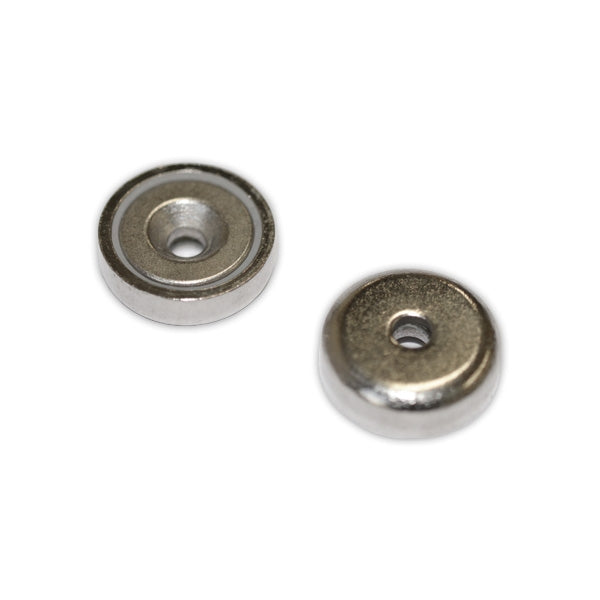 Neodymium Pot - Countersunk 16mm x 5mm | North South Pair