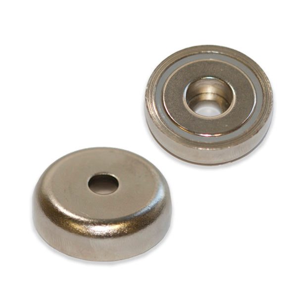 Neodymium Pot - Round Hole 75mm x 18mm