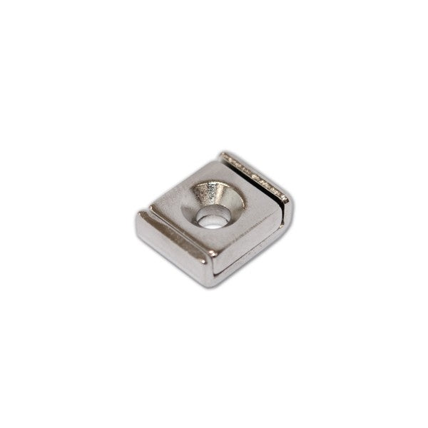 Neodymium Rectangular Pot - Countersunk 10mm x 13.5mm