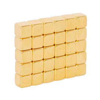 Neodymium Block Magnet 3.175mm x 3.175mm x 3.175mm N52 | Gold Coating