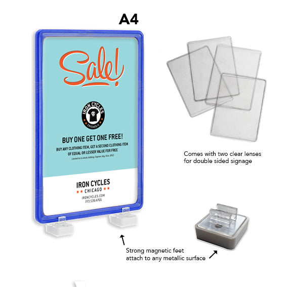 A4 Magnetic Display Frame Blue
