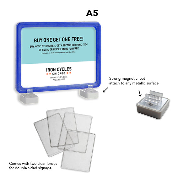 A5 Magnetic Display Frame Blue