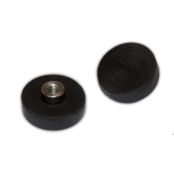 Female Thread Neodymium Pot - Diameter 22mm x 6mm with Rubber Case