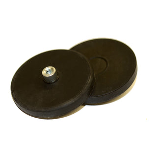 Female Thread Neodymium Pot - Diameter 43mm x 5mm with Rubber Case