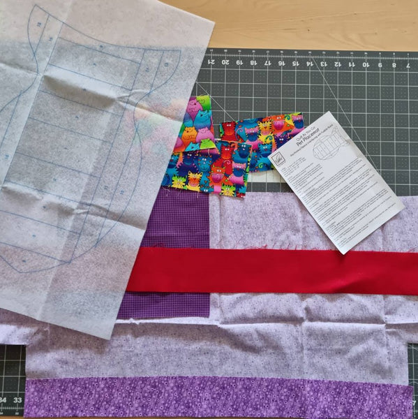 Fabric Cut for Quilting - Colourful Cat Cotton