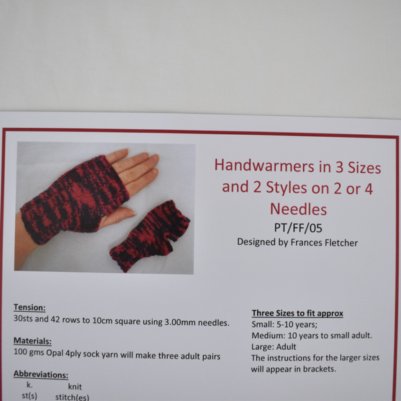 Handwarmers (All Ages) Knitting Pattern
