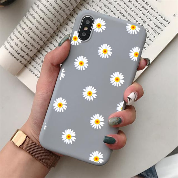 TPU Chrysanthemum Matte Cover