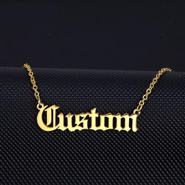 Customized Nameplate Necklaces
