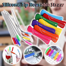 Load image into Gallery viewer, Silicone Tip Reusable Straw