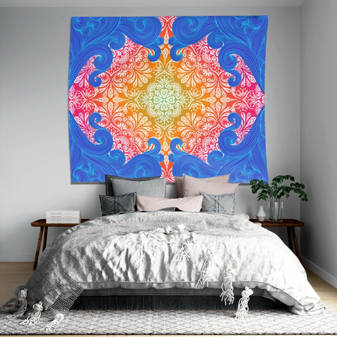 Mandala In Water Indoor Wall Tapestry - What Teens Need