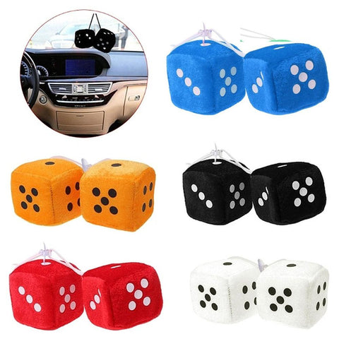Rear View Mirror Fuzzy Dice - What Teens Need