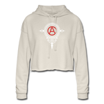 Women's Cropped Anarchy Symbol Hoodie - What Teens Need
