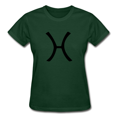 Pisces Zodiac Sign (Black Version) — Gildan Ultra Cotton Ladies T-Shirt - What Teens Need