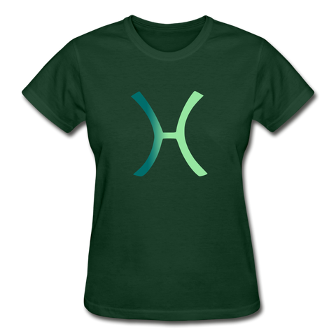Pisces Zodiac Sign (Gradient Version) — Gildan Ultra Cotton Ladies T-Shirt - What Teens Need