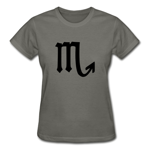 Scorpio Zodiac Sign (Black Version) — Gildan Ultra Cotton Ladies T-Shirt - What Teens Need