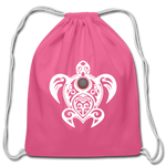 Tribal Turtle With Peace Sign Shell — Drawstring Bag - What Teens Need